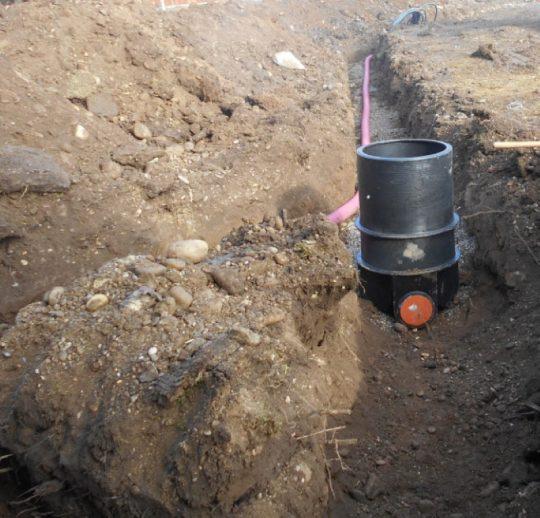 izvedba hišnega kanalizacijskega priključka