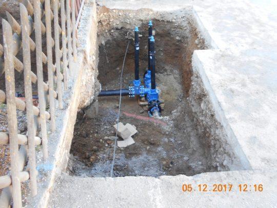 povezava vodovoda zgornje in spodnje ceste v Trničah
